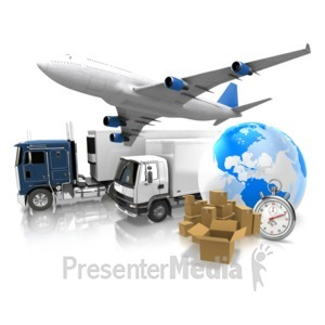 ID# 9684 - World Transportation Shipment - Presentation Clipart