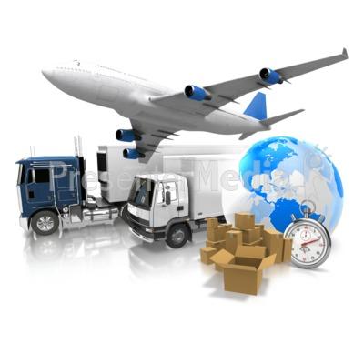 World Transportation Shipment PowerPoint Clip Art