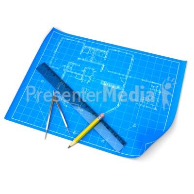 Blueprint Draft Set PowerPoint Clip Art