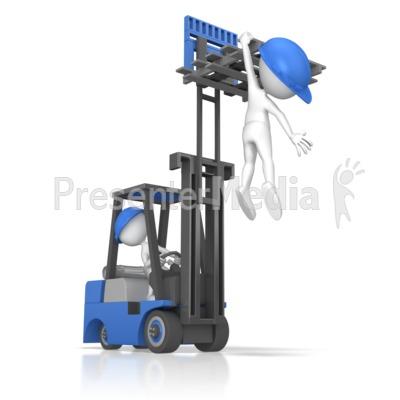 Forklift Careless Incident PowerPoint Clip Art
