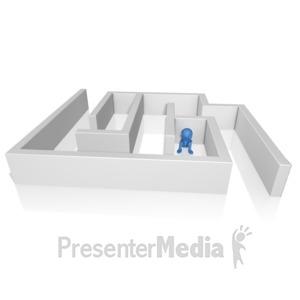 ID# 9743 - Lost In Maze - Presentation Clipart