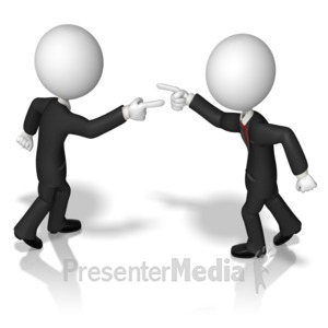 ID# 9758 - Business Figures Accusing - Presentation Clipart
