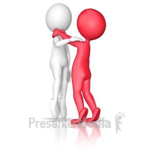 ID# 9765 - Choking Stick Figure Violence - Presentation Clipart