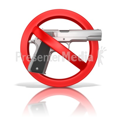 Guns Prohibited PowerPoint Clip Art