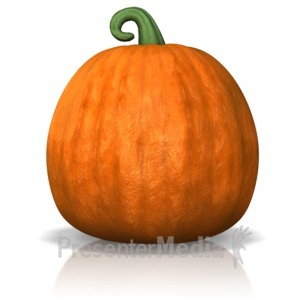 ID# 9833 - A Single Pumpkin - Presentation Clipart