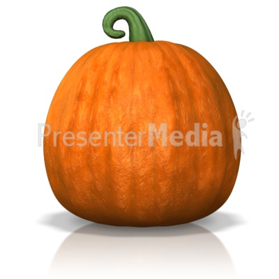 A Single Pumpkin PowerPoint Clip Art