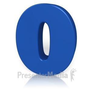 ID# 9867 - Number Zero - Presentation Clipart