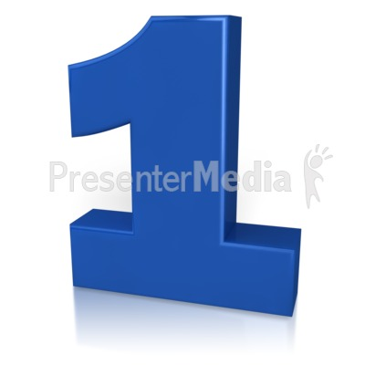 Number One PowerPoint Clip Art
