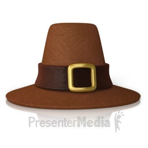 ID# 9887 - Pilgrim Hat - Presentation Clipart