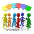 ID# 9893 - Colored Puzzle Connection - Presentation Clipart