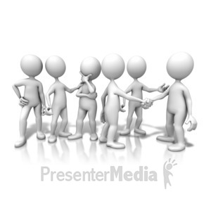 ID# 9894 - Group Chat Interaction - Presentation Clipart