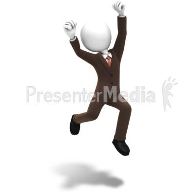 Man Jumping Celebration PowerPoint Clip Art