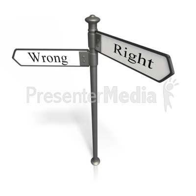 Right And Wrong PowerPoint Clip Art