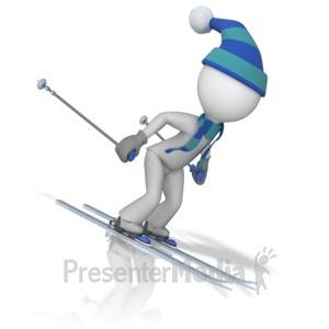 ID# 9984 - Figure Downhill Skiing  - Presentation Clipart