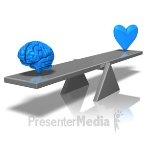ID# 10001 - Balance Mind And Heart - Presentation Clipart