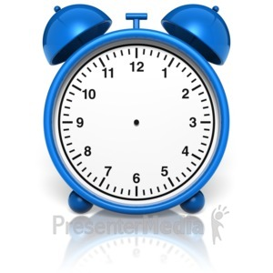 ID# 10002 - Alarm Clock No Hands - Presentation Clipart