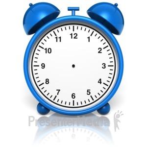 ID# 10002 - Alarm Clock No Hands - Presentation Clipart
