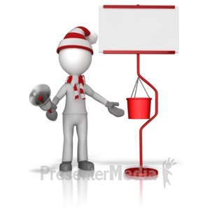 ID# 10005 - Ringing Bell For Charity - Presentation Clipart