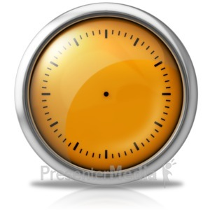 ID# 10009 - Elegant Clock Face - Presentation Clipart
