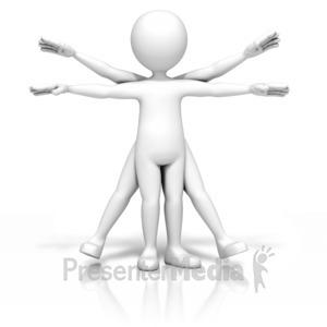 ID# 10015 - Vitruvian Stick Figure - Presentation Clipart