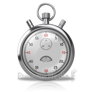 ID# 10017 - Blank Stopwatch - Presentation Clipart