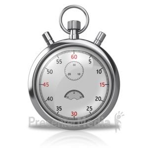 ID# 10017 - Blank Stopwatch - Presentation Clipart