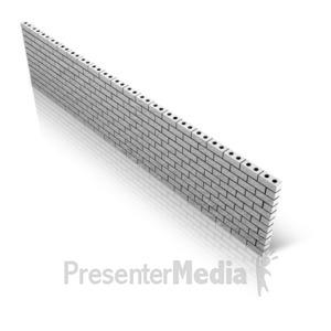 ID# 10019 - Diagonal Brick Wall - Presentation Clipart