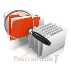 ID# 10057 - Stand Out Magnify File - Presentation Clipart
