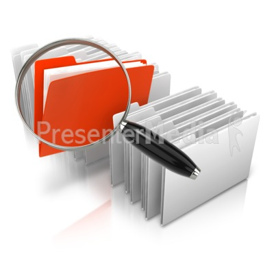 Stand Out Magnify File PowerPoint Clip Art
