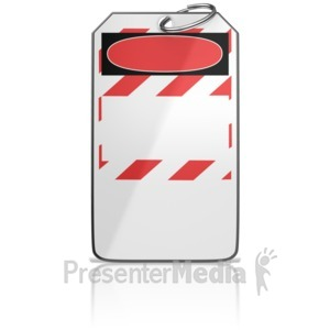 ID# 10059 - Danger Tag - Presentation Clipart