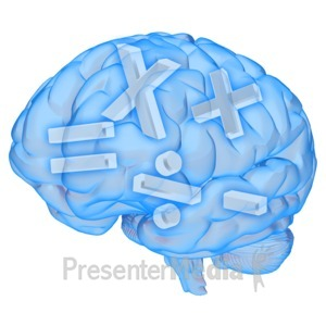 ID# 10061 - Brain Math Symbols - Presentation Clipart