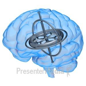 ID# 10062 - Brain Gyroscope - Presentation Clipart