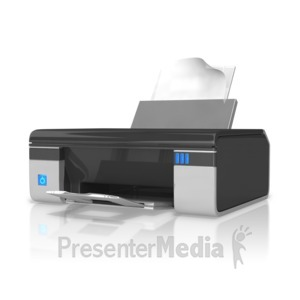 ID# 10076 - Office Printer - Presentation Clipart