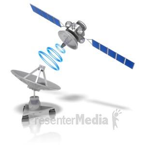 ID# 10088 - Satellite Dish Transmit - Presentation Clipart