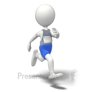 ID# 10101 - Cross Country Runner - Presentation Clipart