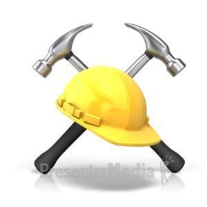 ID# 10113 - Hammers Helmet - Presentation Clipart