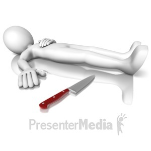 ID# 10142 - Stick Figure Knife - Presentation Clipart
