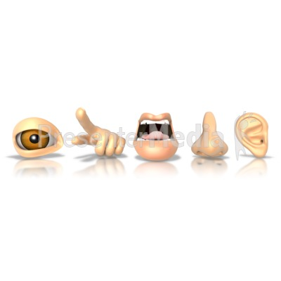 The Five Senses - Presentation Clipart - Great Clipart for ...