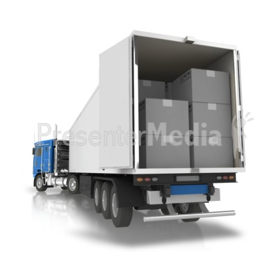 Semi Trailer Backup Boxes PowerPoint Clip Art