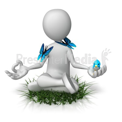Being One With Nature PowerPoint Clip Art