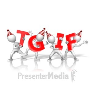 ID# 10166 - TGIF Party Figures - Presentation Clipart