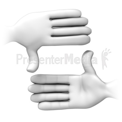 Frame It With Hands PowerPoint Clip Art