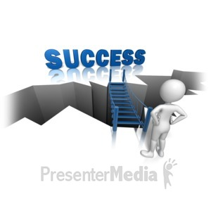 ID# 10182 - Success On The Other Side - Presentation Clipart