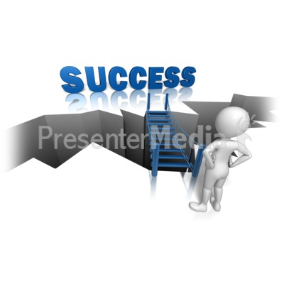 Success On The Other Side PowerPoint Clip Art