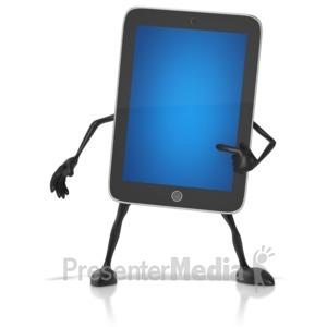 ID# 10197 - Tablet Character - Presentation Clipart