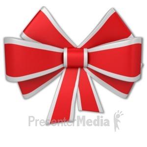 ID# 10204 - Christmas Ribbon - Presentation Clipart