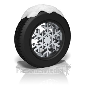 ID# 10212 - Snow Tire Rim - Presentation Clipart