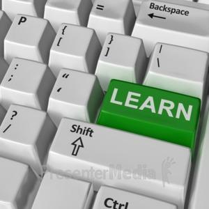 ID# 10240 - Keyboard Learn Key - Presentation Clipart