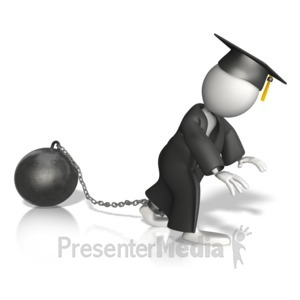 ID# 10242 - Student With A Burden - Presentation Clipart