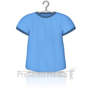 ID# 10245 - T Shirt on a Hanger - Presentation Clipart